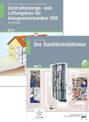 Kombi-Pack Zentralheizungs- u. Lüftungsbauer Der Sanitärinstallateur bestehend aus Einzelbüchern 312