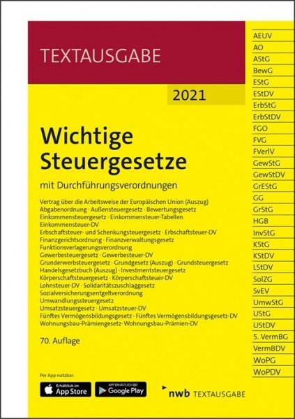 Wichtige Steuergesetze 2021