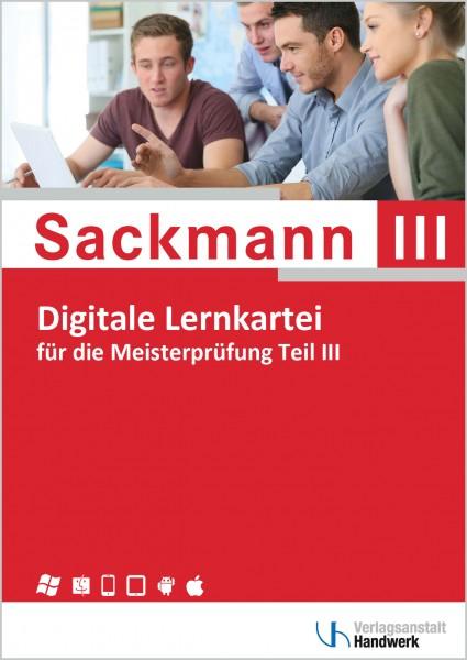 Digitale Lernkartei zum Sackmann - das Lehrbuch für die Meisterprüfung, Teil III