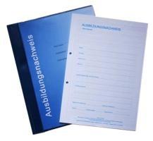 Ausbildungsnachweisblock - gewerbliche Ausbildung, für drei Jahre, 3 Blöcke und stabiler Sammelhefte