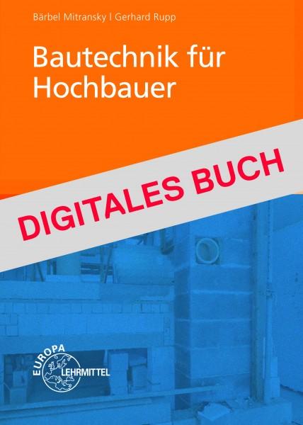 Bautechnik für Hochbauer Dgitales Buch